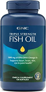 GNC Triple Strength Fish Oil, 120 Count
