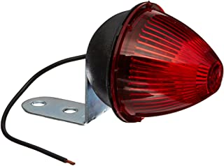 Grote 45022 Red Beehive Clearance Marker Light (with Fixed-Angle Mounting Bracket)
