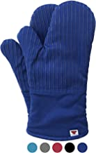 Big Red House Oven Mitts, with The Heat Resistance of Silicone and Flexibility of Cotton, Recycled Cotton Infill, Terrycloth Lining, 480 F Heat Resistant Pair Dark Royal Blue