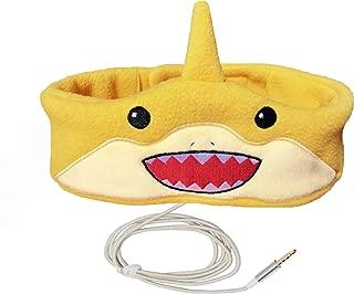 Charlxee Kids Headphones Children Girls Boys Teens Volume Limiting Foldable and Durable Headphone Headband for School, Home and Travel -Yellow Shark