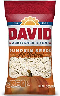 Sponsored Ad - DAVID SEEDS Roasted and Salted Pumpkin Seeds, 2.25 oz, 12 Pack