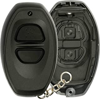KeylessOption Keyless Entry Remote Control Black Car Key Fob Shell Case Cover Button Pad for Toyota Dealer Installed Alarm System BAB237131-022