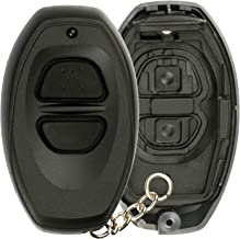 KeylessOption Keyless Entry Remote Control Black Car Key Fob Shell Case Cover Button Pad for Toyota Dealer Installed Alarm System BAB237131-022
