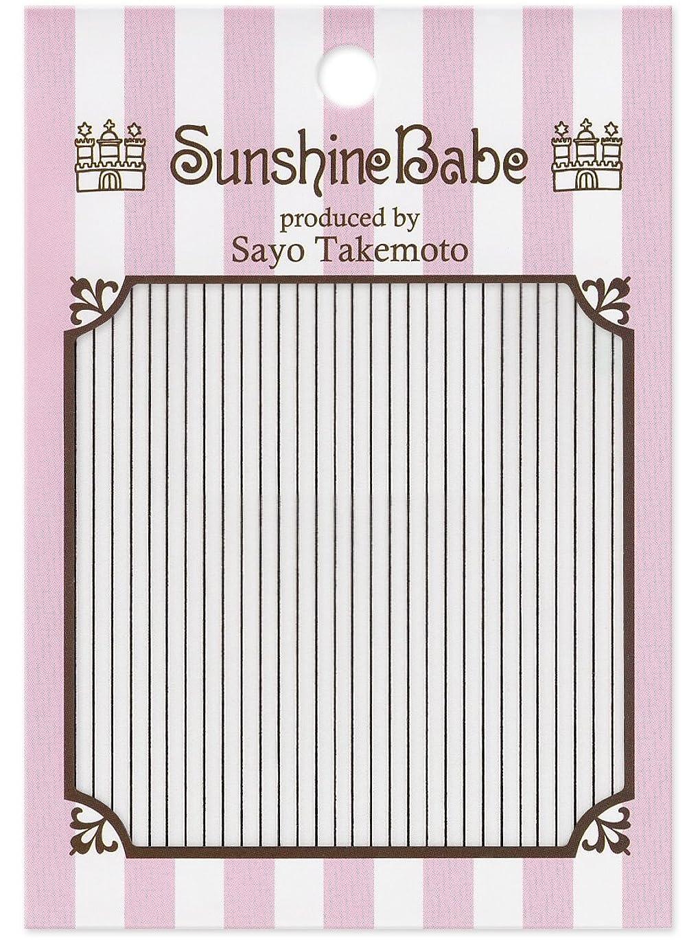 火オンス腐ったサンシャインベビー ジェルネイル 武本小夜のネイルシール Sayo Style ライン ブラック