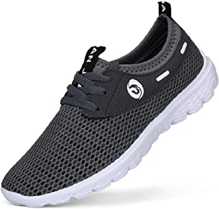 VIPMY Mens Walking Shoes Lightweight Sneakers Mesh Breathable Running Shoes Casual Athletic Fitness Shoes
