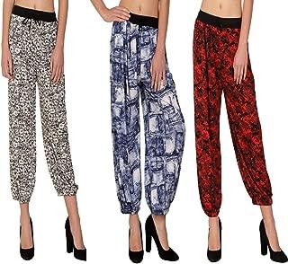 MGrandbear Women's Adorable Harem pant/Afgani/Pajama For Summer Pack Of 3