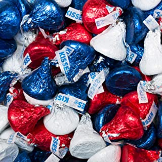 Patriotic Candy 5 lb - Hershey's Kisses Chocolate with Red, Blue, & White Foil - 4th of July