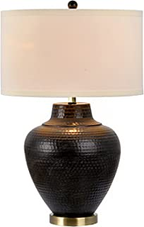 Catalina Lighting 19954-000 Transitional 3-Way Hammered Metal Table Lamp with Linen Shade 26.75