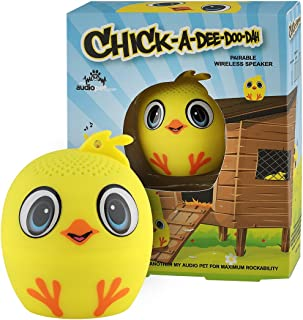 My Audio Pet Chick Mini Bluetooth Animal Wireless Speaker for Kids of all ages - True Wireless Stereo Technology – Pair with Another TWS Pet for Powerful Rich Room-Filling Sound - (CHICK-a-dee-do-dah)