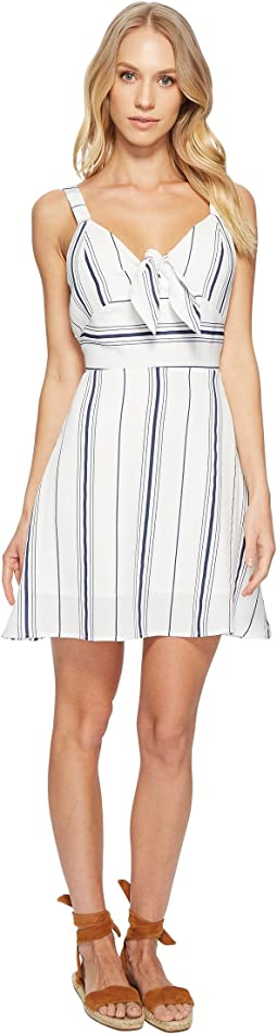 J.O.A. - Tie Front Fit & Flare Dress