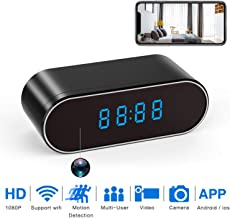 $39 Get Hidden Spy Camera WiFi, WBESEV 1080P Clock Hidden Cameras Wireless IP Surveillance Camera for Home Security Monitor Video Recorder Nanny Cam 140°Angle Night Vision Motion Detection (Latest Version)