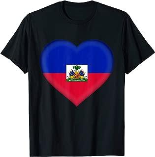 I Love Haiti T-Shirt | Haitian Flag Heart Outfit