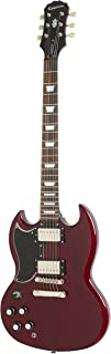 Epiphone G-400 Pro Electric Guitar with Coil-Splitting, Left Handed, Guitar, Cherry Red