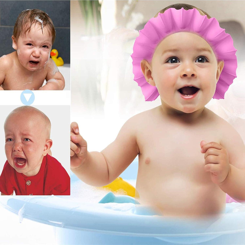 HMROAD 3Pcs Baby Shower Cap Soft Hat Adjustable Visor Cap Protect Your Baby Eyes for Toddler Children Baby Kids