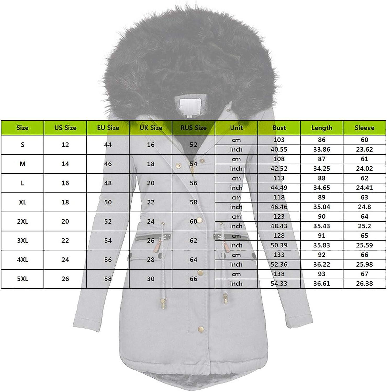Puimentiua Frauen Mäntel Lässig Kapuzenmantel Winter Jacke Mode Warme Kunstpelz Bomberjacke Elegante Mittellange Fleece Chic Grau