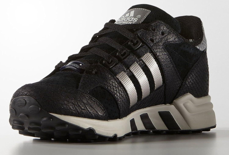 Adidas Equipment Running Cushion 93' Mens in Black Metalic Silver, 8.5