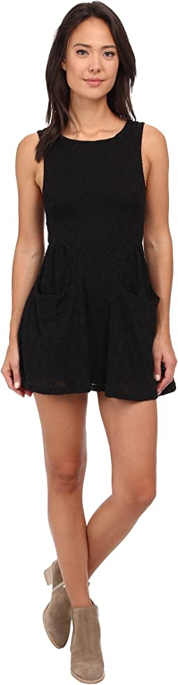 Textured Lace Poppy Mini Knit Dress