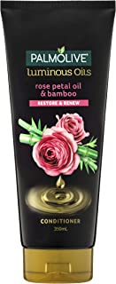 Palmolive Luminous Oils Hair Conditioner Rose Petal Oil and Bamboo Restore and Renew, 350mL
