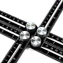 Wondruz Multi Angle Measuring Ruler, Premium Aluminum Alloy Ultimate 836 Template Tool/Layout Tool Measurement for Handymen, Builders, Craftsmen, DIY-ers (Black)
