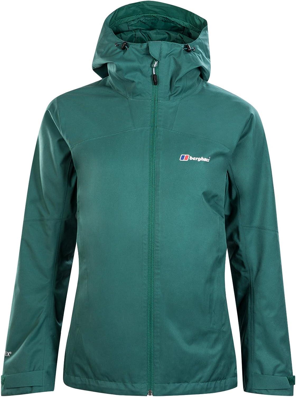 (Size 8, Posy Green)  Berghaus Women's Fellmaster GoreTex Waterproof Jacket'