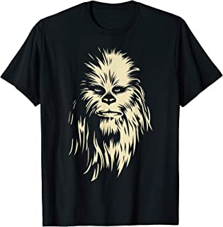 Star Wars Chewbacca Face Shadow T-Shirt