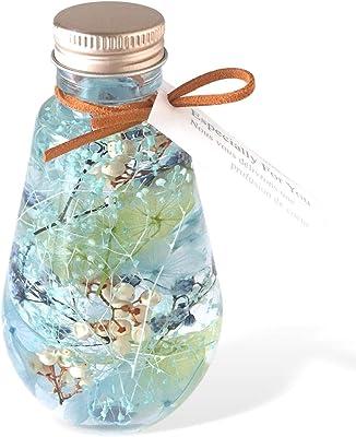 フローリストレマン ハーバリウム プリザーブドフラワー 光る 蓄光 サプライズ プレゼント 贈り物 ルミナリウム スターダスト (ブルー)