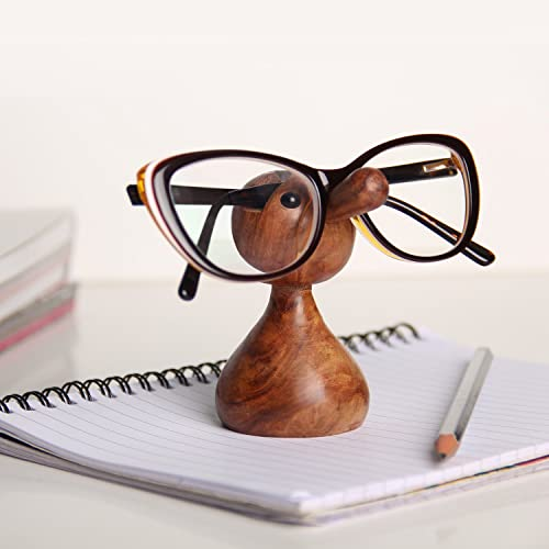 Vian Wooden Spectacles Eyeglass Holder/Stand (Funny Gifts)(For Desktop/Table Top/ Gift Display Item)