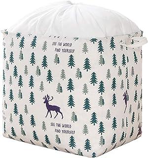 XLW Boîte de rangement avec cordon de serrage, très grand panier de rangement avec tissu en toile, panier de rangement pou...