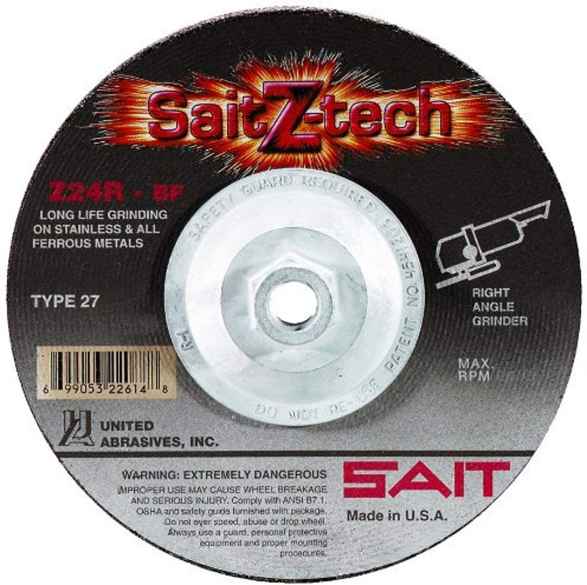 United Abrasives-SAIT 22612 Ranking TOP19 5 by 1 Gr 27 Ranking TOP8 Z-TECH Type 8-11 4