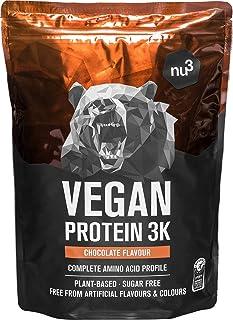 nu3 Veganistisch Eiwit 3K Shake - 1Kg Chocolademix - vegan protein gemaakt van 3-componenten eiwit met 70% eiwit - poeder ...