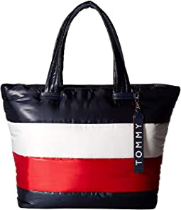 Ames Puffy Corp Color Block Tote