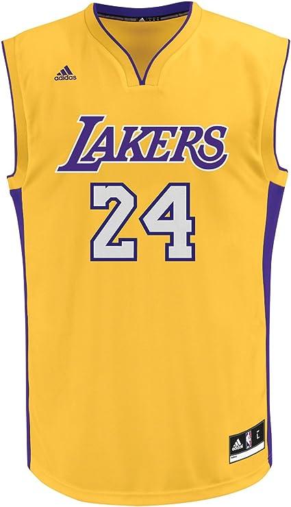 Amazon.com : NBA Los Angeles Lakers Youth Kobe Bryant Home Replica ...