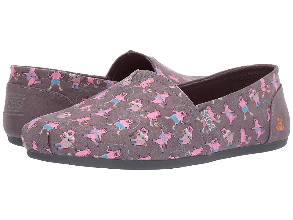 BOBS from SKECHERS Bobs Plush Fit Pig (Charcoal) Women
