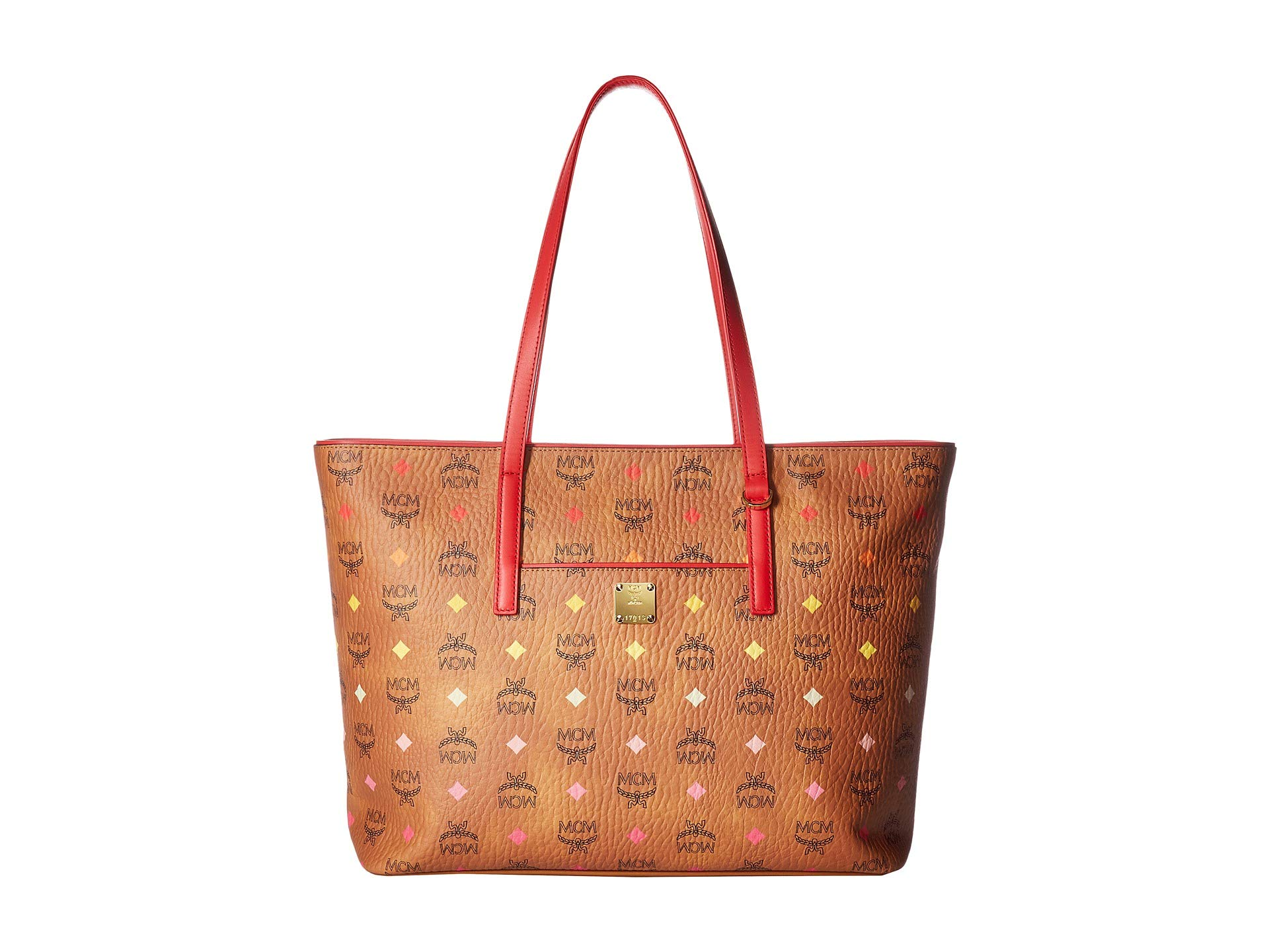 Mcm Visetos Shopper Spectrum Cognac Anya Diamond Medium Spektrum qCvAUq