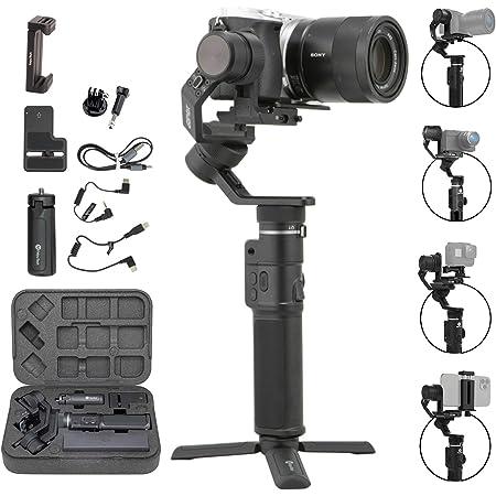 FeiyuTech G6 Max 3-Achse Handheld Gimbal Stabilisator (G6 Plus Upgrade Ver) für Spiegellose Kamera Sony a7 w/Kurze Linse,Action Kamera Gopro,Smartphone iPhone 11 Pro Max 8,1,2kg Nutzlast,Splash Proof