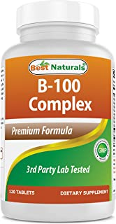 Best Naturals B-100 Complex Tablets (Time Released) (817716013206) Unflavored 120 Count