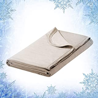 Elegear Revolutionary Cooling Blanket Absorbs Heat to Keep Adults, Children, Babies Cool on Warm Nights, Japanese Q-Max 0.4 Cooling Fiber, 100% Cotton Backing, Summer Blanket for Night Sweats