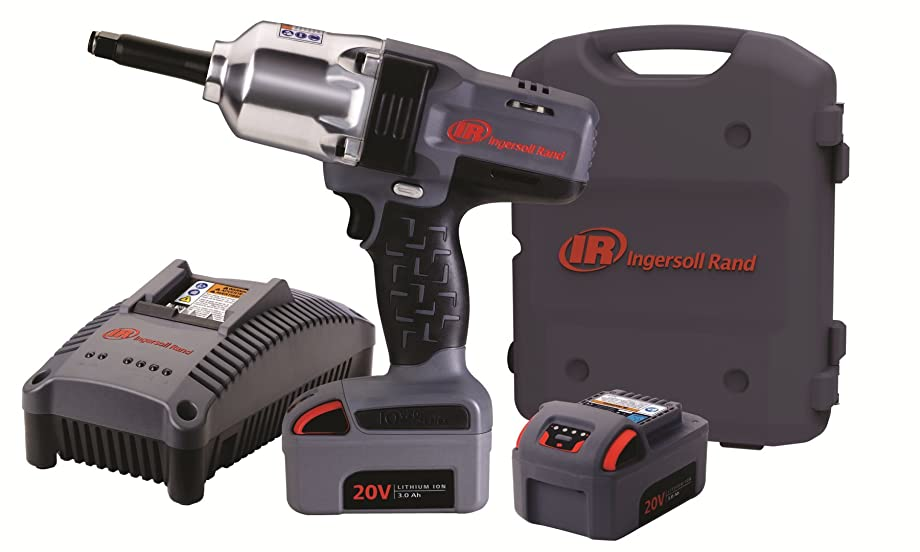 Ingersoll Rand W7250-K2 1/2-Inch High-Torque 2-Inch Extended Anvil Impactool Kit with Charger, Li-ion Batteries and Case