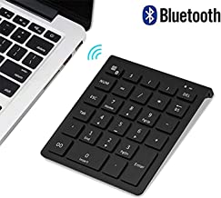 Bluetooth Number Pad, Lekvey Portable Wireless Bluetooth 28-Key Numeric Keypad Keyboard..