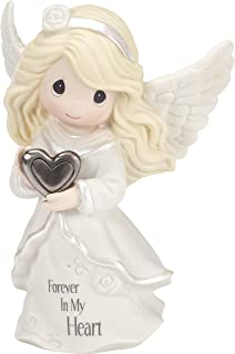 Precious Moments Forever In My Heart Angel Memorial Bisque Porcelain/Metal Figurine 182012