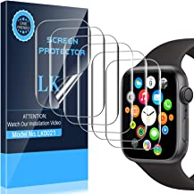 LK [6 Pack] Screen Protector Compatible with Apple Watch 40mm Series 6/SE/5/4 and Apple Watch 38mm Series 3, [Model No. LK...