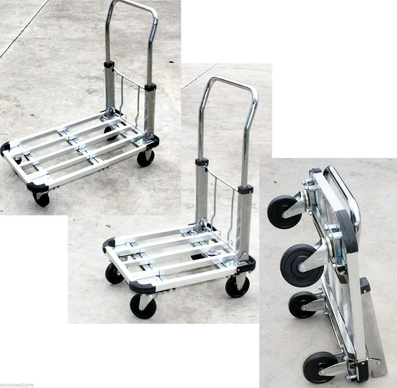 EXTENDABLE COLLAPSIBLE ALUMINUM Outlet SALE PLATFORM HAND DOLLY Fresno Mall S CART TRUCK