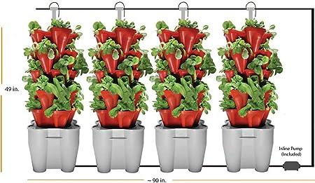 Amazon Com 4 Tower Garden System Recirculating Terra Cotta Kitchen Dining