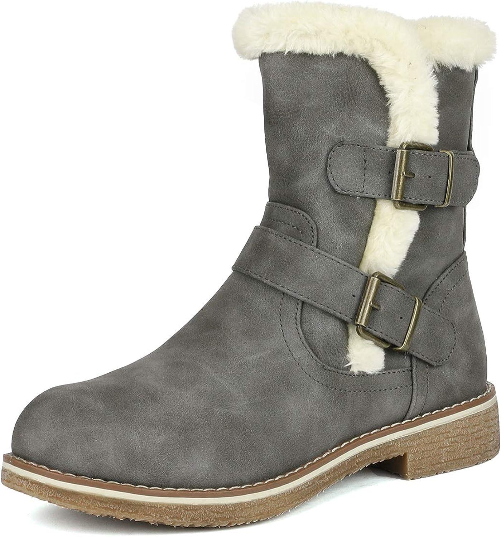 DREAM price PAIRS Women's Mid Calf Fashion Winter Boots 5 ☆ popular Snow