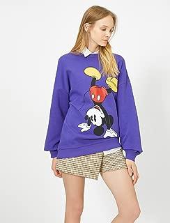 Mickey Mouse Lisansli Baskili Sweatshirt