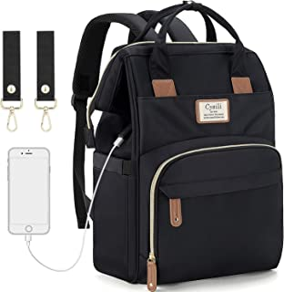 Diaper Bag Backpack with USB Charging Port and Stroller Straps, Maternity Nappy Bag with Insulated Feeding Bottle Pockets ...