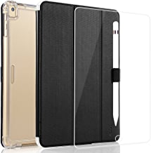 Valkit for iPad Pro 10.5 Case with Screen Protector, Protective Heavy Duty Rugged Shockproof Armor with Pencil Holder for Apple iPad Pro 10.5 Cover 2017 with Tempered Glass Screen Protector, Black