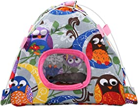 Pet Bird Nest Cute Cartoon Parrot Tent Coral Mat Hut Cage Snuggle Happy Bed Mat for Parrot Birds (7 Color)
