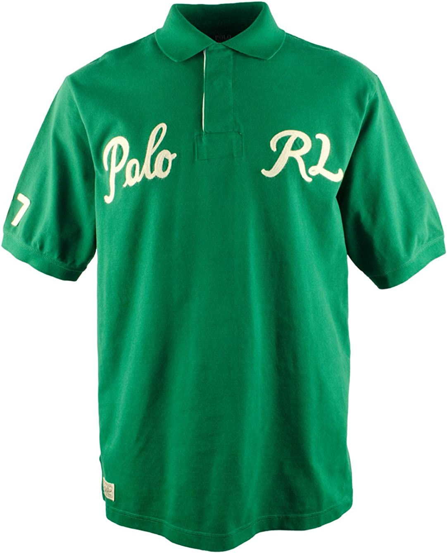 Men's Big and Tall Short Sleeve Varsity Polo Shirt