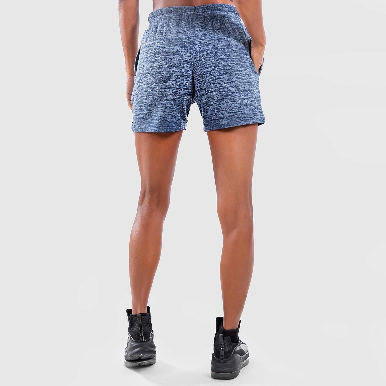 Workout Trainingshose Sporthose SMILODOX Damen Shorts Be Yourself Kurze Hose f/ür Sport Fitness Gym Training /& Freizeit